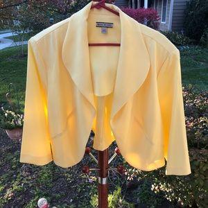 Lemon shrug jacket layering plus size